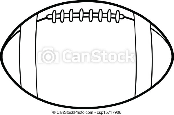 Outlined American Football Ball - csp15717906