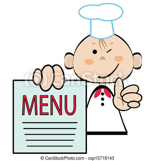 image rigolote cuisinier
