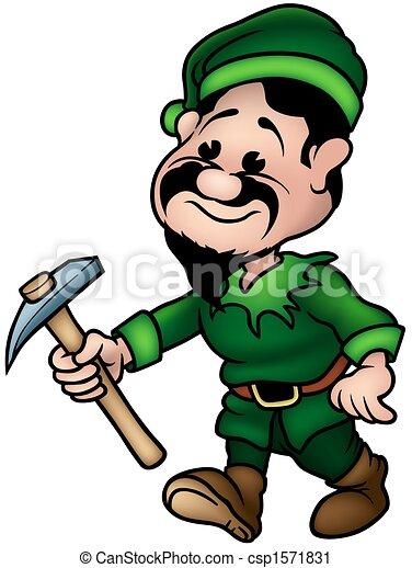 Green Dwarf - Elf Miner - csp1571831