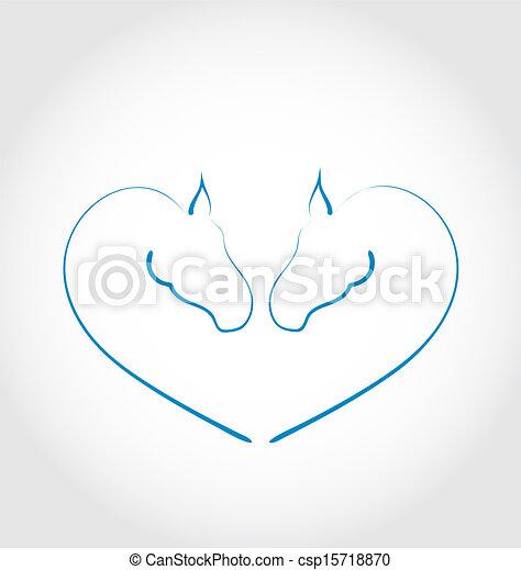 Illustrazioni vettoriali di cavalli stilizzato forma for Disegno cavallo stilizzato