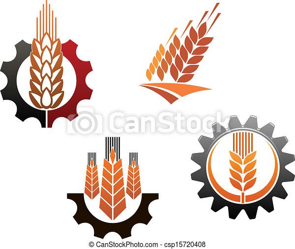 Agriculture symbols set - csp15720408