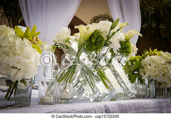Beautifully Decorated Wedding Venue - csp15722245