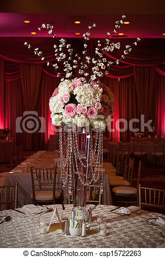 Beautifully Decorated Wedding Venue - csp15722263