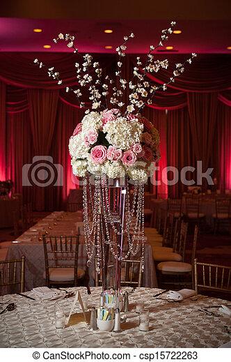 Beautifully Decorated Wedding Venue - csp15722263