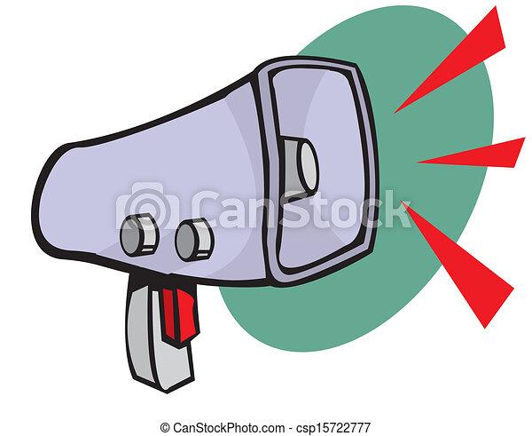 Vectors Illustration of Loudspeaker or megaphone icon csp15722777 ...