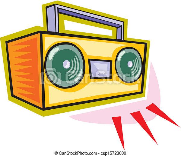 Vector Clipart Of Radio Tape Recorder Radio Tape