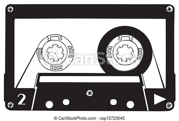 cassette tape clip art drawing