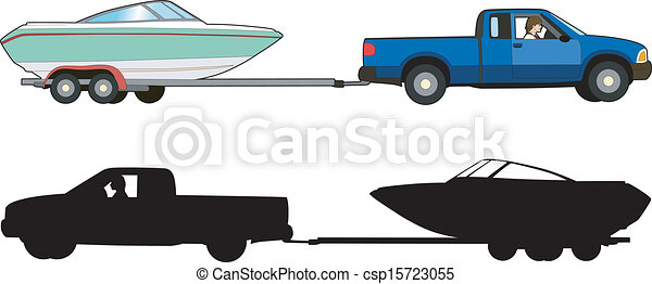 Clipart Vector of Boat trailer - Vector illustration of a means of transport, csp15723055 ...