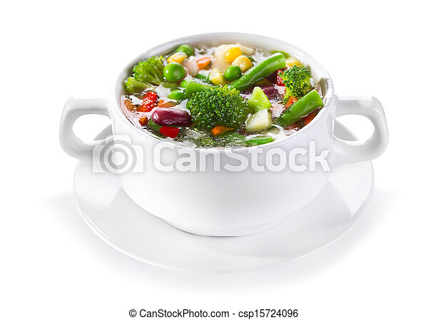 bowl of vegetable soup - csp15724096