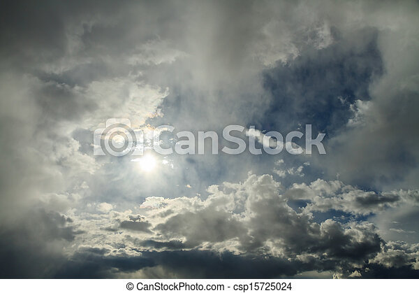 The light of the sun breaks through the clouds - csp15725024