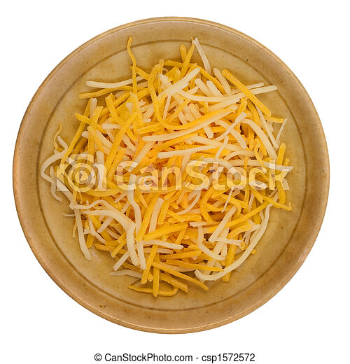 shredded cheddar and Monterey Jack cheese - csp1572572