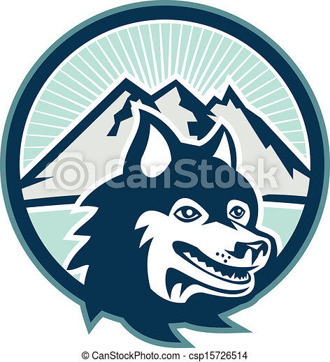 Husky Dog Clipart Siberian Husky Dog Head