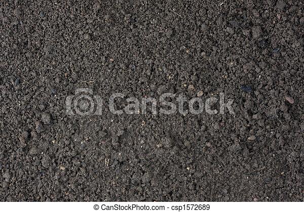 garden moist top soil background - csp1572689