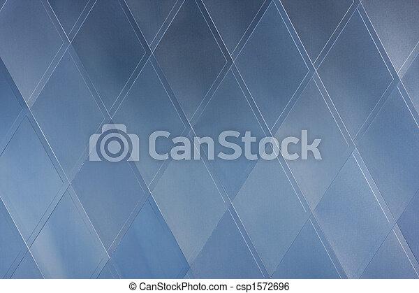 blå, mönster, abstrakt,  -, geometriskt,  rhomb, arkitektur - csp1572696