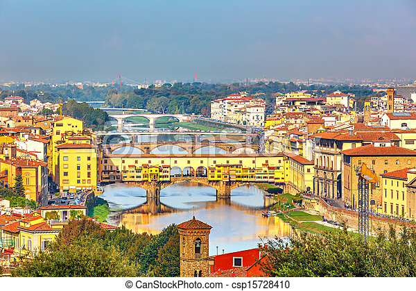 Bridges over Arno river in Florence - csp15728410