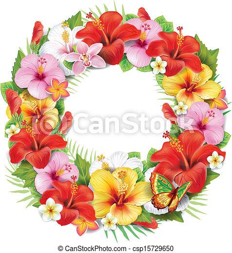 vecteur exotique couronne fleur