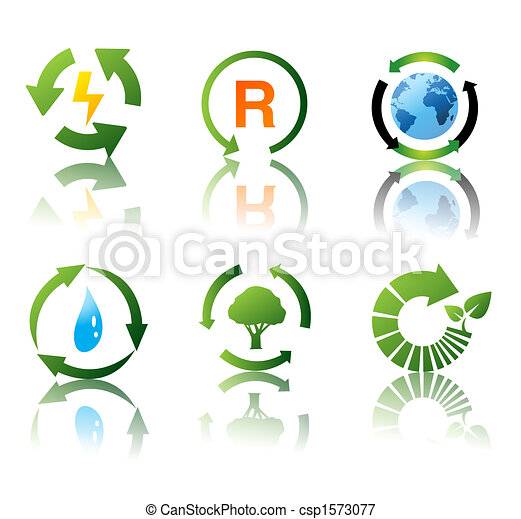 Vector set of environmental recycling icons - csp1573077