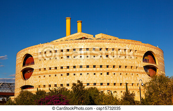 Torre Triana Modern Round Building Seville Andalusia Spain.  Houses the Seville Government. - csp15732035