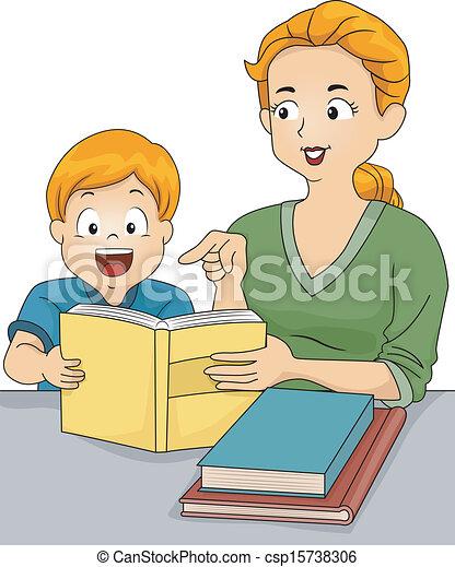 Clipart vecteur de aide devoirs illustration de a for Aide devoir maison
