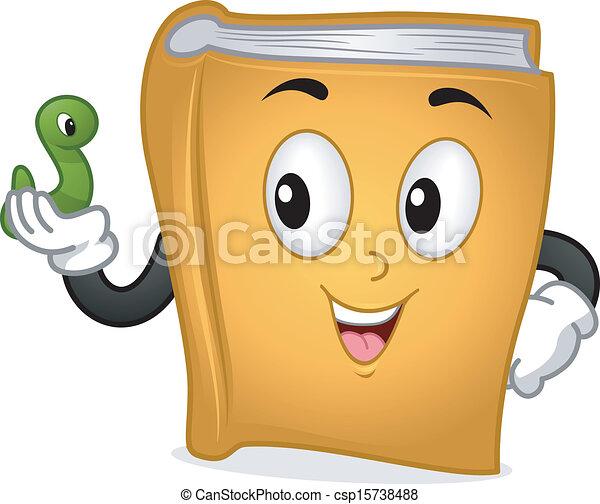 Bücherwurm clipart  Vektor Clipart von karikatur, bücherwurm - Cute, lächeln, grün ...