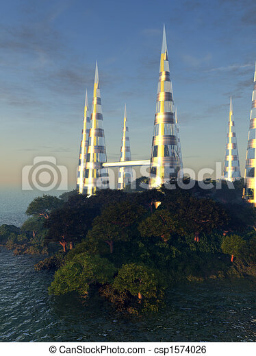 Future Building By Coastline 5 - csp1574026