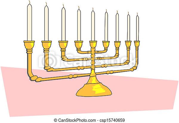 Hanukkah menorah - csp15740659