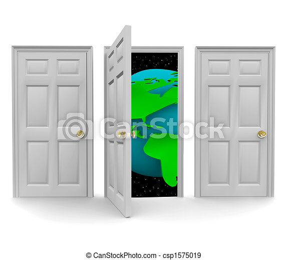 Choose the Door to a World of Opportunity - csp1575019