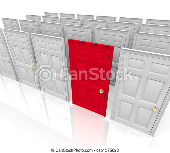 Many Doors - Which to Choose - csp1575028