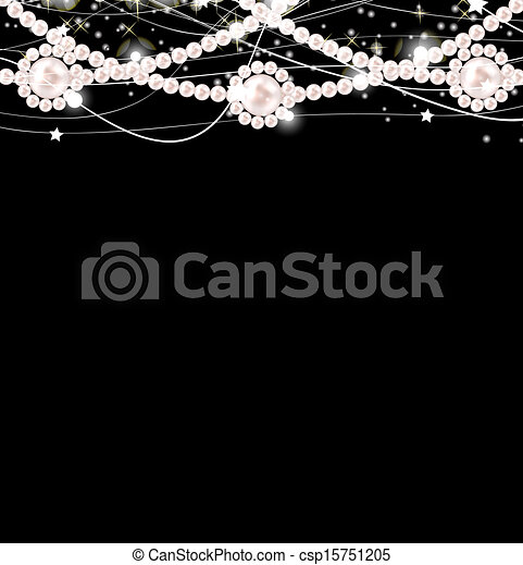 Beauty pearl background vector illustration - csp15751205