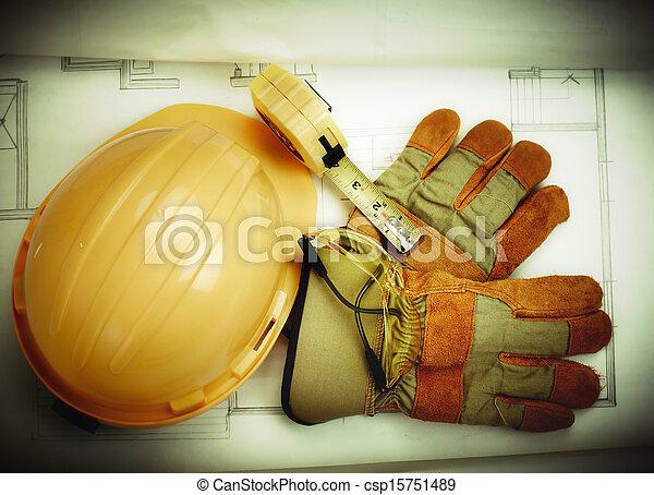 costruzione, tools. - csp15751489