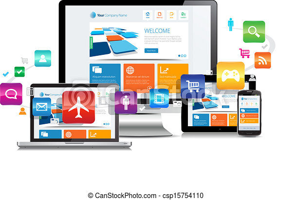 Responsive Design Apps - csp15754110