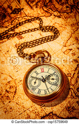 Antique pocket watch. - csp15759649