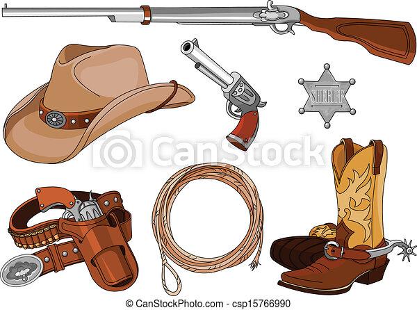Cowboy objects set - csp15766990