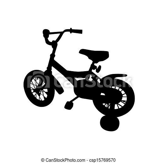 Vectors Illustration of kids bike vector illustration ...