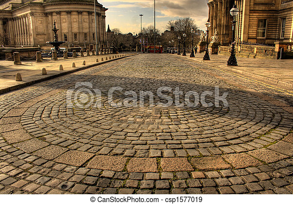 William Brown Street Liverpool HDR - csp1577019