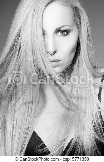 Beautiful woman face - csp15771350