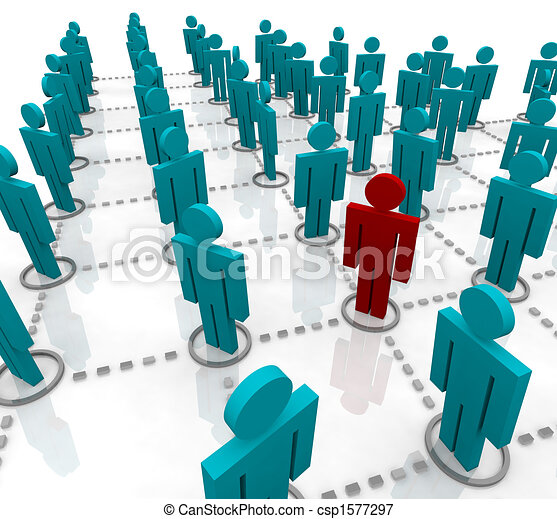 Large Network of People - csp1577297