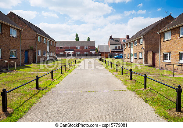 Houses on a typical english residential estate - csp15773081