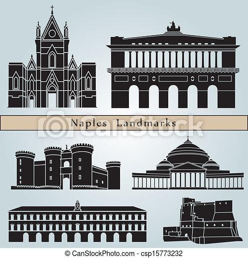 Naples landmarks and monuments - csp15773232
