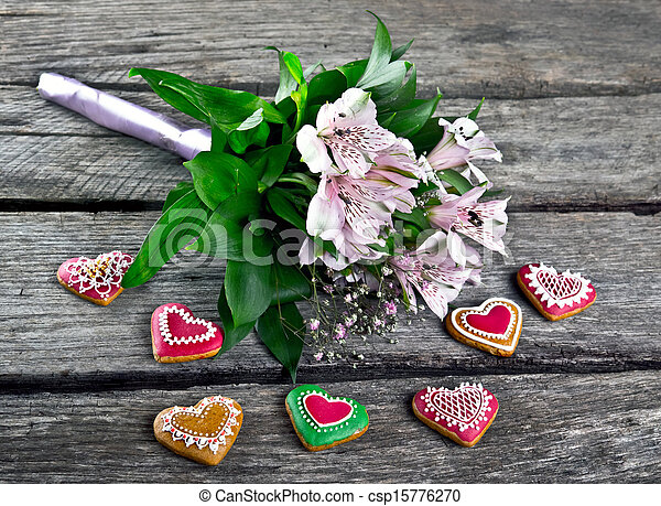 Wedding Bouquet with Heart shape