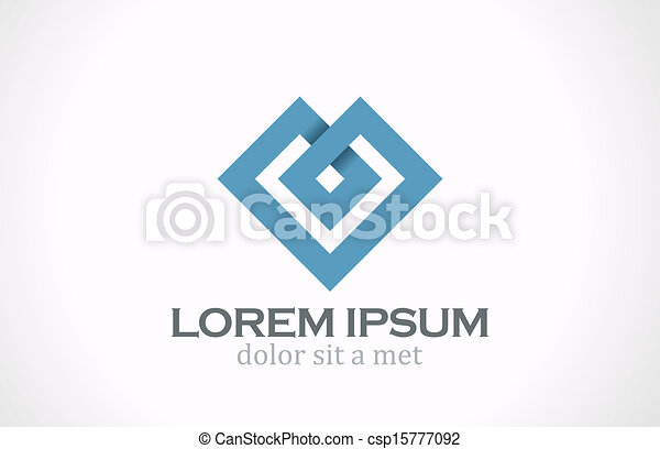 Logo Fashion luxury abstract heart vector design. - csp15777092