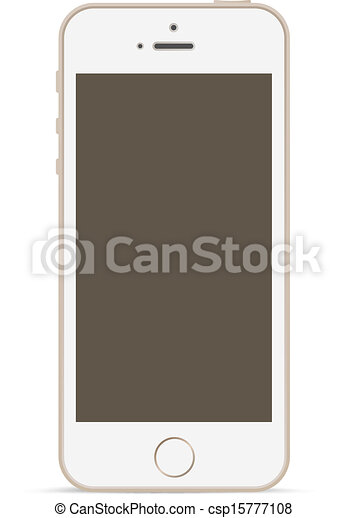 Vector Clipart Of Mobile Phone Mockup Design Template