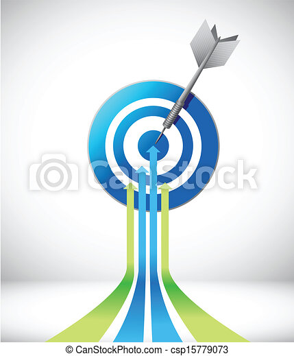 leader arrow and target. illustration design - csp15779073
