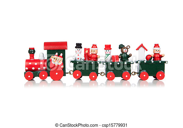 Christmas Toy Train - csp15779931