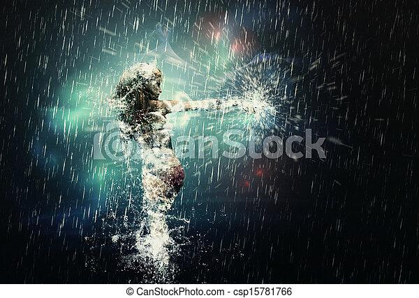 雨, ダンス - csp15781766