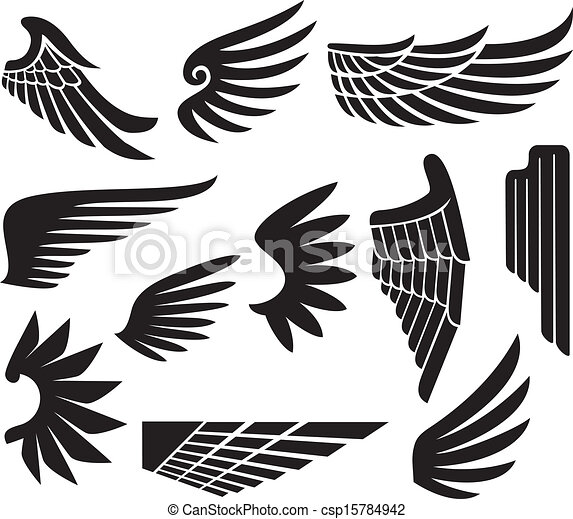 eps vector of wings collection  set of wings  csp15784942 mustache clip art free no background moustache clip art free