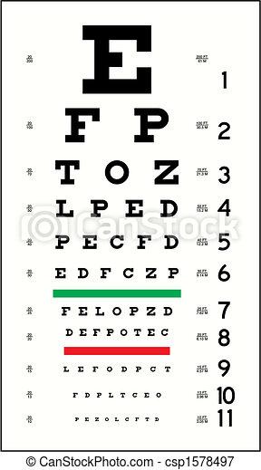Eye Chart - csp1578497