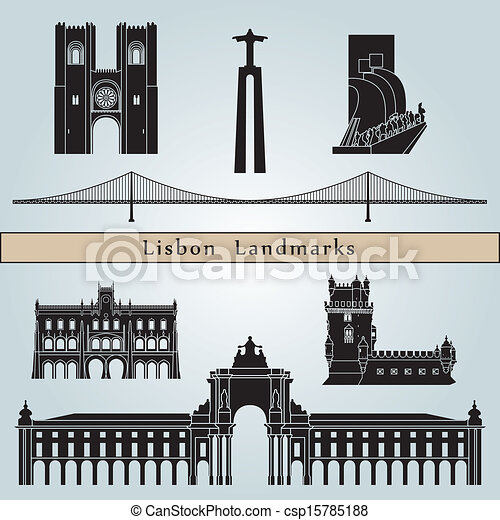 Lisbon landmarks and monuments - csp15785188