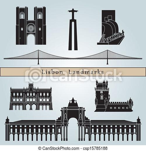 Lisbon landmarks and monuments - csp15785188
