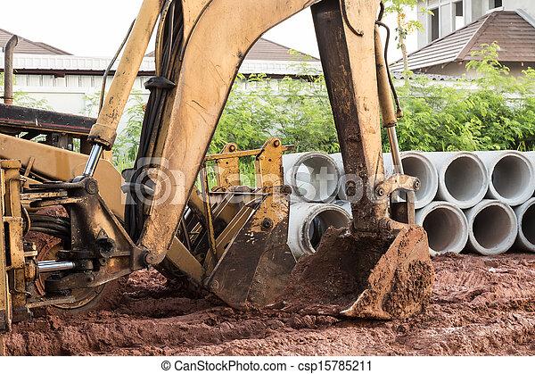 bulldozer performing - csp15785211